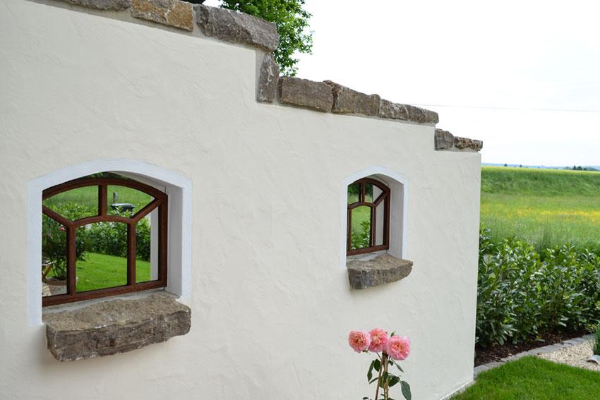 Design Garten Mauer Putz Spachtel Bielefeld