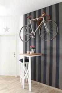 Fahrrad als Wanddekoration